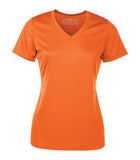 DEEP ORANGE ATC PRO TEAM SHORT SLEEVE V-NECK LADIES' TEE. L3520
