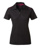 BLACK / RASPBERRY COAL HARBOUR® SNAG RESISTANT CONTRAST INSET LADIES' SPORT SHIRT. L4002