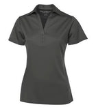 STEEL GREY / STEEL COAL HARBOUR® EVERYDAY COLOUR BLOCK LADIES' SPORT SHIRT. L4008