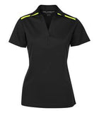 BLACK / NEON YELLOW COAL HARBOUR® EVERYDAY COLOUR BLOCK LADIES' SPORT SHIRT. L4008
