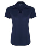 TRUE NAVY COAL HARBOUR® CITY TECH SNAG RESISTANT LADIES' SPORT SHIRT. L4015