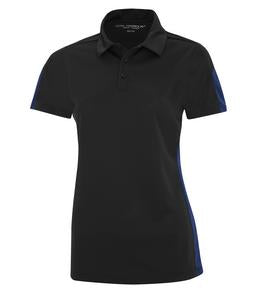 BLACK / ROYAL COAL HARBOUR® EVERYDAY COLOUR SLICE LADIES' SPORT SHIRT. L4024