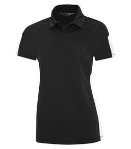 BLACK / WHITE COAL HARBOUR® EVERYDAY COLOUR SLICE LADIES' SPORT SHIRT. L4024