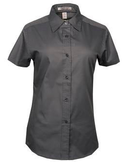 COAL GREY COAL HARBOUR® EASY CARE SHORT SLEEVE WOVEN LADIES' SHIRT. L510