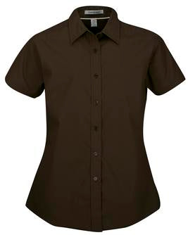 COFFEE BEAN COAL HARBOUR® EASY CARE SHORT SLEEVE WOVEN LADIES' SHIRT. L510
