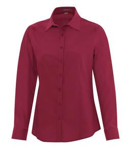 RICH RED COAL HARBOUR® EVERYDAY LONG SLEEVE LADIES' WOVEN SHIRT. L6013