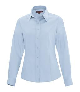SKY BLUE COAL HARBOUR® NON-IRON TWILL LADIES' SHIRT. L6017