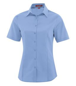 BLUE LAKE COAL HARBOUR® EVERYDAY SHORT SLEEVE LADIES' WOVEN SHIRT. L6021