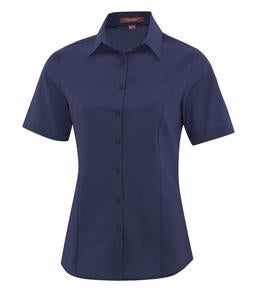 TRUE NAVY COAL HARBOUR® EVERYDAY SHORT SLEEVE LADIES' WOVEN SHIRT. L6021