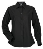 BLACK COAL HARBOUR® EASY CARE LONG SLEEVE WOVEN LADIES' SHIRT. L610