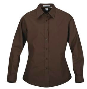 COFFEE BEAN COAL HARBOUR® EASY CARE LONG SLEEVE WOVEN LADIES' SHIRT. L610