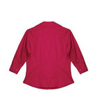 RED COAL HARBOUR® EASY CARE 3/4 SLEEVE WOVEN LADIES' SHIRT. L615