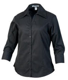 BLACK COAL HARBOUR® EASY CARE 3/4 SLEEVE WOVEN LADIES' SHIRT. L615