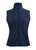 NAVY COAL HARBOUR® POLAR FLEECE LADIES' VEST. L740