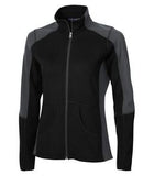 BLACK / GRAPHITE COAL HARBOUR® EVERYDAY FLEECE LADIES' COLOUR BLOCK JACKET. L7503