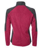 FUSCHIA / GRAPHITE COAL HARBOUR® EVERYDAY FLEECE LADIES' COLOUR BLOCK JACKET. L7503