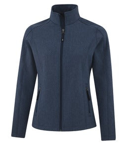 NAVY HEATHER COAL HARBOUR® EVERYDAY SOFT SHELL LADIES' JACKET. L7603