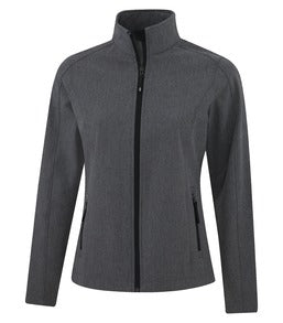 PEARL GREY HEATHER COAL HARBOUR® EVERYDAY SOFT SHELL LADIES' JACKET. L7603
