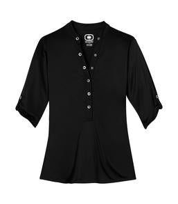 BLACKTOP OGIO® CRUSH LADIES' HENLEY. LOG111