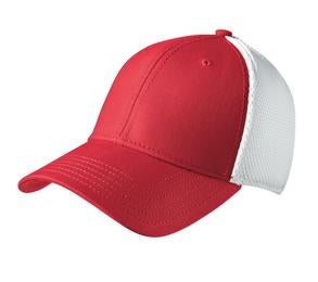 SCARLET / WHITE NEW ERA® STRETCH MESH CAP. NE1020