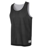 WHITE / BLACK ATC PRO MESH REVERSIBLE TANK TOP. S3524