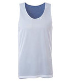 WHITE / TRUE ROYAL ATC PRO MESH REVERSIBLE TANK TOP. S3524