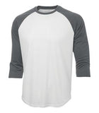 WHITE / CHARCOAL GREY ATC PRO TEAM BASEBALL JERSEY. S3526