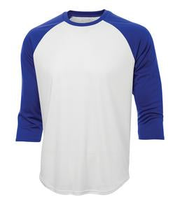 WHITE / TRUE ROYAL ATC PRO TEAM BASEBALL JERSEY. S3526