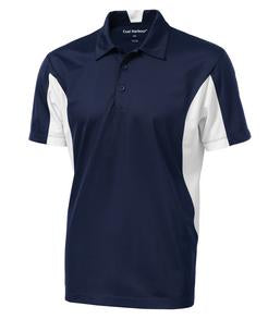 TRUE NAVY / WHITE COAL HARBOUR® SNAG RESISTANT COLOUR BLOCK SPORT SHIRT. S4001