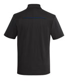 BLACK / ROYAL COAL HARBOUR® SNAG RESISTANT CONTRAST INSET SPORT SHIRT. S4002