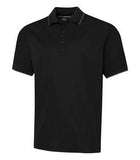 BLACK / IRON GREY COAL HARBOUR® SNAG RESISTANT TIPPED COLLAR SPORT SHIRT. S4018