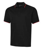 BLACK / TRUE RED COAL HARBOUR® SNAG RESISTANT TIPPED COLLAR SPORT SHIRT. S4018