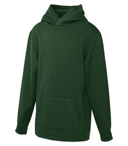 FOREST GREEN ATC GAME DAY FLEECE HOODED YOUTH SWEATSHIRT. Y2005