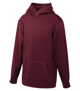 MAROON ATC GAME DAY FLEECE HOODED YOUTH SWEATSHIRT. Y2005