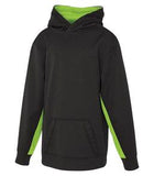 CHARCOAL / HEATHER LIME ATC GAME DAY FLEECE COLOUR BLOCK HOODED YOUTH SWEATSHIRT. Y2011