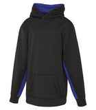 CHARCOAL / HEATHER TRUE ROYAL ATC GAME DAY FLEECE COLOUR BLOCK HOODED YOUTH SWEATSHIRT. Y2011