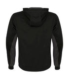 BLACK / CHARCOAL ATC GAME DAY FLEECE COLOUR BLOCK HOODED YOUTH SWEATSHIRT. Y2011