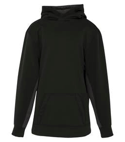 CHARCOAL / HEATHER BLACK ATC GAME DAY FLEECE COLOUR BLOCK HOODED YOUTH SWEATSHIRT. Y2011