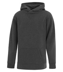 CHARCOAL ATC ES ACTIVE HOODED YOUTH SWEATSHIRT. Y2016