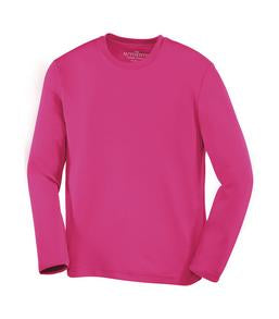 WILD RASPBERRY ATC PRO TEAM LONG SLEEVE YOUTH TEE. Y350LS