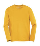 GOLD ATC PRO TEAM LONG SLEEVE YOUTH TEE. Y350LS