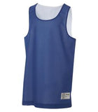WHITE / TRUE ROYAL ATC PRO MESH REVERSIBLE YOUTH TANK TOP. Y3524