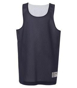 TRUE NAVY / WHITE ATC PRO MESH REVERSIBLE YOUTH TANK TOP. Y3524