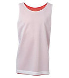 WHITE / TRUE RED ATC PRO MESH REVERSIBLE YOUTH TANK TOP. Y3524