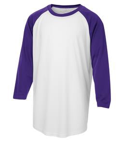WHITE / PURPLE ATC PRO TEAM BASEBALL YOUTH JERSEY. Y3526