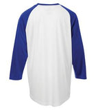 WHITE / TRUE ROYAL ATC PRO TEAM BASEBALL YOUTH JERSEY. Y3526