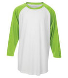 WHITE / LIME SHOCK ATC PRO TEAM BASEBALL YOUTH JERSEY. Y3526