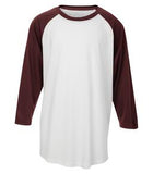 WHITE / MAROON ATC PRO TEAM BASEBALL YOUTH JERSEY. Y3526