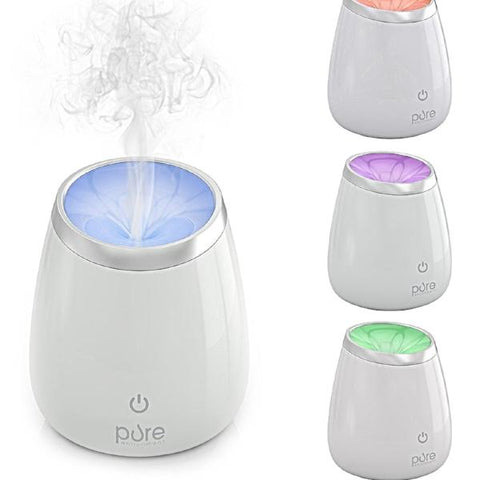 PureSpa Deluxe Ultrasonic Aromatherapy Oil Diffuser — High Capacity Aroma Diffuser Lasts for Up to 10 Hours with Automatic Shut-Off for Home & Office Safety