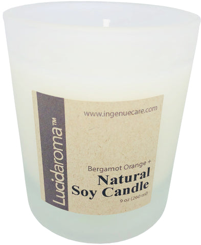 Lucid Aroma Lemongrass Orange Natural Soy Candle 9oz